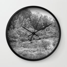 Magnificent River in Black and White Wall Clock