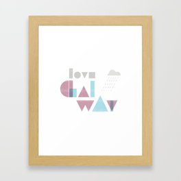 Love Galway - Typography Framed Art Print