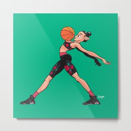 CoolNoodle and AirJordan6 Playoffs Metal Print