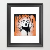SF Giants x Marilyn Monroe by Adam Valentino  Framed Art Print