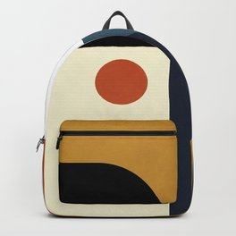 mid century abstract shapes fall winter 4 Backpack