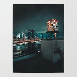 The Water Tower New York City (Color) Poster