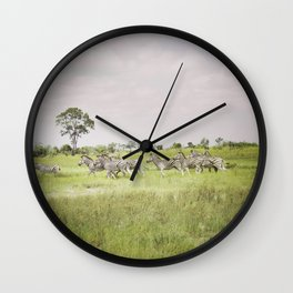 Family of Zebras Wall Clock