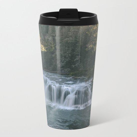 Lewis River Falls Metal Travel Mug