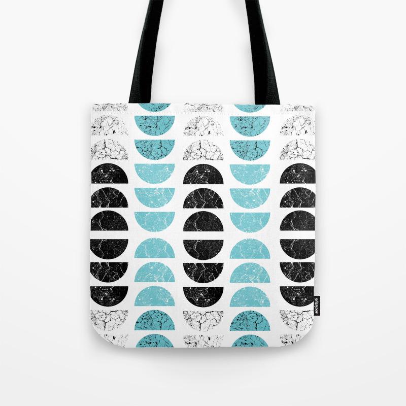 Half Moons In Tiffany Blue Tote Bag