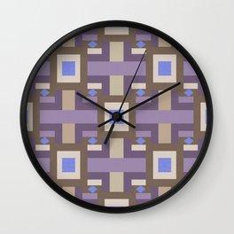 WINTER GEOMETRY PATTERN Wall Clock