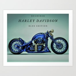 Bucherer Blue Edition Motorcycle Art Art Print