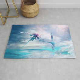 Symbiosis game concept art Rug