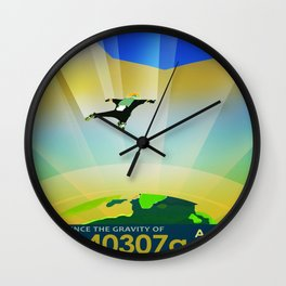 Vintage poster - Super Earth Wall Clock