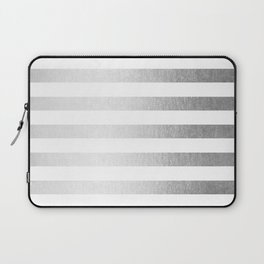 Simply Striped Moonlight Silver Laptop Sleeve
