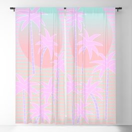 Hello Miami Sunrise Blackout Curtain