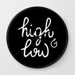 high & low #2 Wall Clock