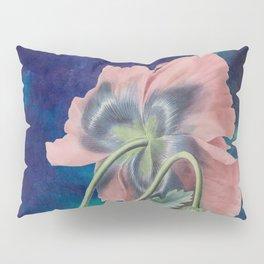 French Poppy - Vintage Botanical Illustration Collage Pillow Sham