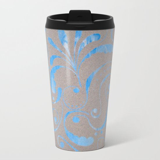 marbled design Metal Travel Mug