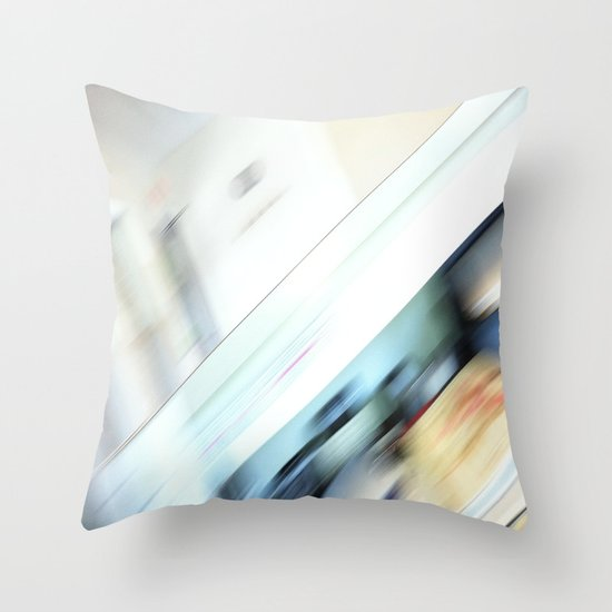 Life is a blight  in an office closed tight. Throw Pillow