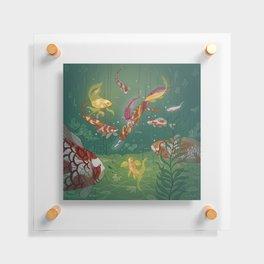 Ukiyo-e tale: The magic pen Floating Acrylic Print