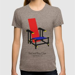 Red and Blue chair - Rood Blauwe stoel - Gerrit Rietveld T-shirt