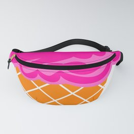 Vanilla and Raspberry Ice Cream Cone Fanny Pack