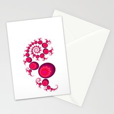 Pretty Pink Paisley on White Stationery Cards