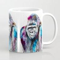 gorilla Mugs featuring Gorilla by Slaveika Aladjova