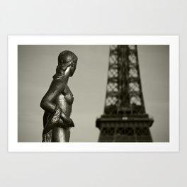 Looking At Eiffel Art Print