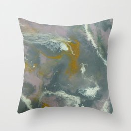 Geode River Resin Painting Throw Pillow