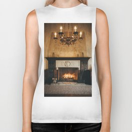 Cozy Fireplace Biker Tank
