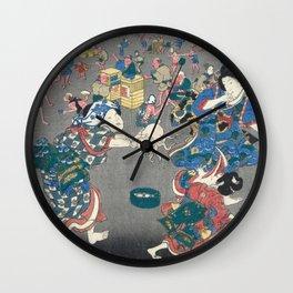 Utagawa Kunisada  Japanese Woodblock Print Wall Clock