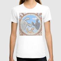bunnies T-shirts featuring Sweet bunnies by Artemio Studio
