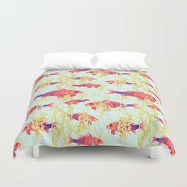 Carpe Diem  with Seaweed Duvet Cover