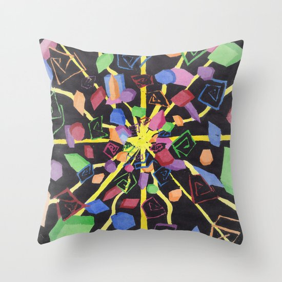 On edge #3 #watercolor #art #decor #society6 Throw Pillow