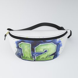 Seattle 12th Man Art Fanny Pack