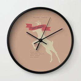 The Deer Hunter, Minimal movie poster, Michael Cimino film, alternative, Christopher Walken, De Niro Wall Clock
