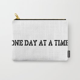 One Day at a Time (block white) Carry-All Pouch