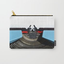 Vintage Blue Typewriter Carry-All Pouch