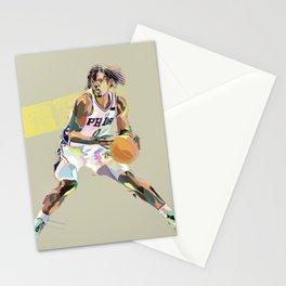 Maxey Vivid Philadelphia Basketball Sports Star Art Print  Stationery Cards