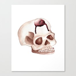 Bloody Skull Candle Canvas Print