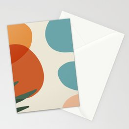 Abstract Art Beautiful summer pallette color Stationery Cards