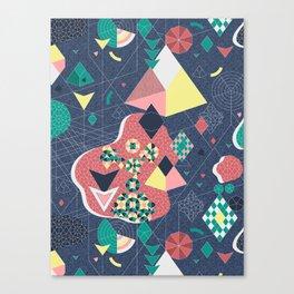 Abstract Fragmentation Canvas Print