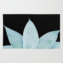 Green Agave on Black #1 #tropical #decor #art #society6 Rug