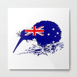 Australian Flag - Kiwi Bird Metal Print