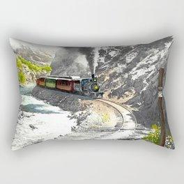 Rounding Inspiration Point--Clear Creek Canyon Rectangular Pillow