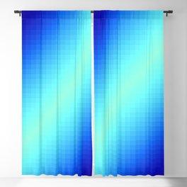 Blue Gradient Squares Blackout Curtain