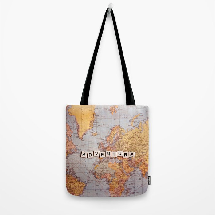 adventure map Tote Bag