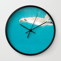 turtles Wall Clocks featuring Turtles by Loaded Light Photography