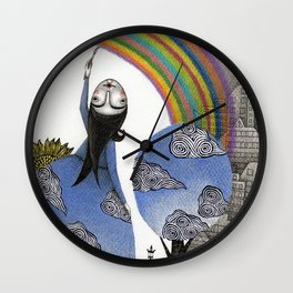 Rainbow Mine Wall Clock