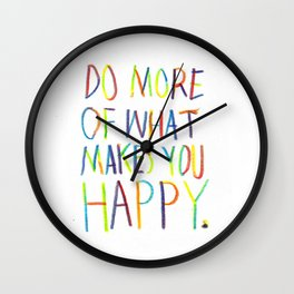 Positive Quote Wall Clock