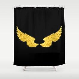 Golden Angel Wings Shower Curtain