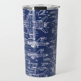 F-18 Blueprints Travel Mug
