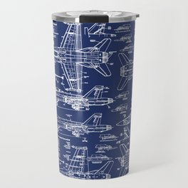 F-18 Blueprints Travel Mug